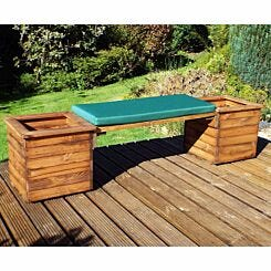 Charles Taylor Deluxe Planter Bench with Cushion Green