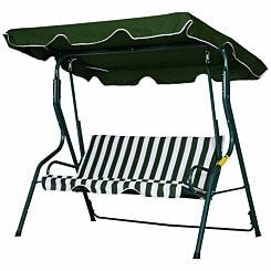 Alfresco Premium 3 Seater Swing Chair with Canopy Green