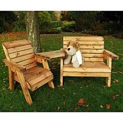 Charles Taylor Kids Angled Bench and Chair Set