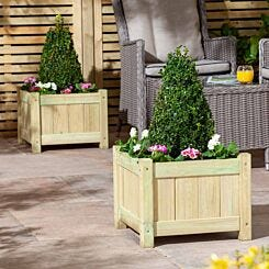 Rowlinson Aston Wooden Planters Pack of 2
