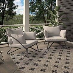 Teddi Lounge Chairs with Rain Covers Set of 2
