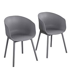 York XL Dining Chairs Pack of 2 Charcoal Grey