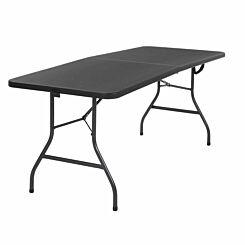 Deluxe Folding Table 1.8 Metres Black