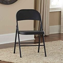 All Steel Folding Chair Pack of 4 Black