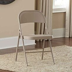 All Steel Folding Chair Pack of 4 Antique Linen