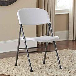 Resin Folding Chair Set of 4 White Effect