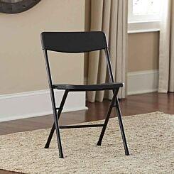 Moulded Folding Chair Set of 4 Black