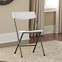 Moulded Folding Chair Set of 4 White