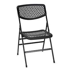 Resin Mesh Folding Chair Set of 2 Black