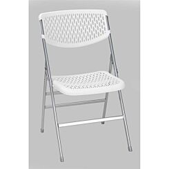 Resin Mesh Folding Chair Set of 2 White