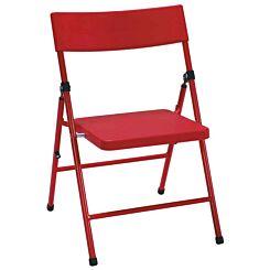 Kids Pinch Free Folding Chair Set of 4 Red