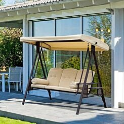 Alfresco 3 Seater Swing Chair with Cup Trays