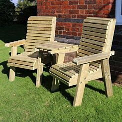Hawthorn Love Seat with Angled Tray
