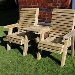Hawthorn Love Seats with Square Tray