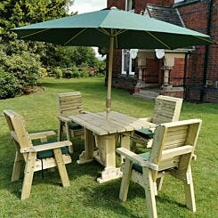 Hawthorn Outdoor Dining Set with 4 Chairs
