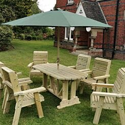 Hawthorn Outdoor Dining Set with 6 Chairs