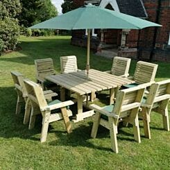 Hawthorn Outdoor Dining Set with 8 Chairs