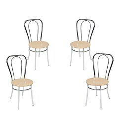 Teknik Office Bistro Deluxe Chair Pack of 4