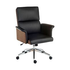 Teknik Office Elegance Medium Back Faux Leather Chair