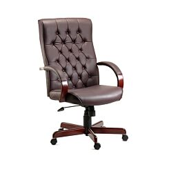 Teknik Office Warwick Traditional Executive Chair Bonded Leather
