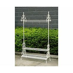 Charles Bentley Wrought Iron Clothes and Shoe Rack