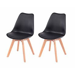 Aspen Upholstered Chair With Wood Legs Pack of 2