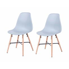 Aspen Plastic Chair With Metal Cross Rails Pack of 2 Grey