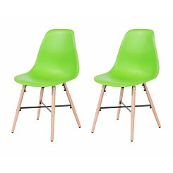 Aspen Plastic Chair With Metal Cross Rails Pack of 2 Green