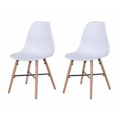 Aspen Plastic Chair With Metal Cross Rails Pack of 2 White