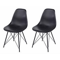 Aspen Plastic Chair With Metal Legs Pack of 2