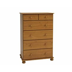 Steens Richmond Pine 2 Over 4 Deep Chest of Drawers