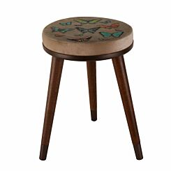 Inbox Round Stool Butterfly