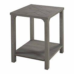 Leon Wood Side Table Grey
