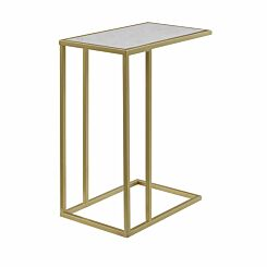 Alzira Modern End Table White Marble