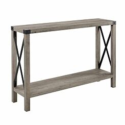Palencia Rustic Farmhouse Entryway Table Grey