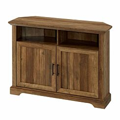 Blanes Corner TV Console with Grooved Doors