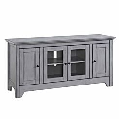 Manresa Wood and Glass TV Stand Grey