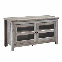 Gasteiz Wooden TV Stand with Glazing Grey