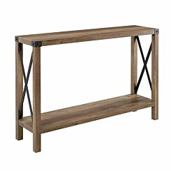 Palencia Rustic Farmhouse Entryway Table Wood