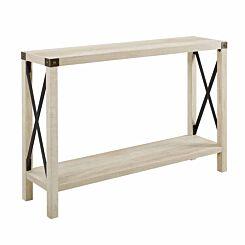 Palencia Rustic Farmhouse Entryway Table White/Oak
