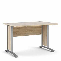 Prima Desk with Silver Legs 120cm Oak