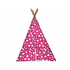 Kaikoo Kids Teepee Play Tent Heart Print