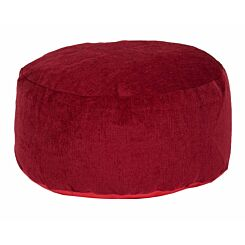 Kaikoo Round Chenille Stool Red