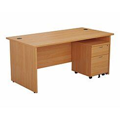 TC Office Panel End Desk and 2 Drawer Mobile Pedestal Bundle 1200x800mm