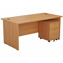 TC Office Panel End Desk and 2 Drawer Mobile Pedestal Bundle 1800 x 800mm
