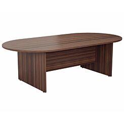 TC Office Long D-End Boardroom Table 2400mm Dark Walnut