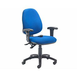 TC Office Calypso Twin Lever Ergonomic Chair with Lumber Pump and Height Adjustable Arms Royal Blue