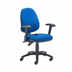 TC Office Calypso Twin Lever Ergonomic Chair with Lumbar Pump and Folding Arms Royal Blue