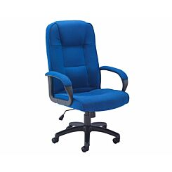 TC Office Keno Executive Fabric Chair with Padded Arms Royal Blue