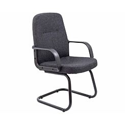 TC Office Canasta 2 Fabric Visitor Executive Chair Charcoal